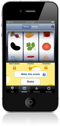 JuggleFit's Shake a Snack App for iPhone & iPod touch